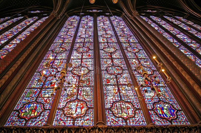 Sainte chapelle Parijs stock fotografie