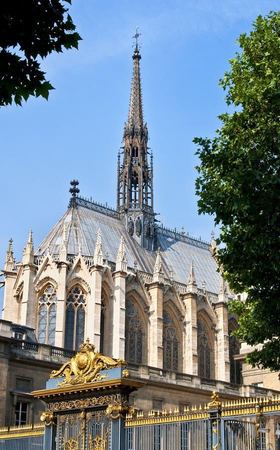 Sainte-Chapelle, Parijs Frankrijk stock fotografie