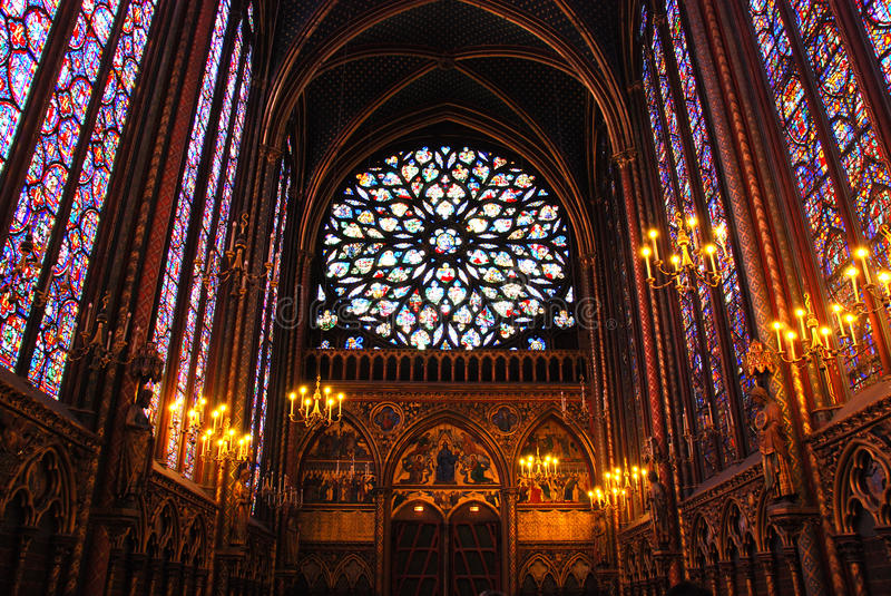 Sainte Chapelle Paris stock photos