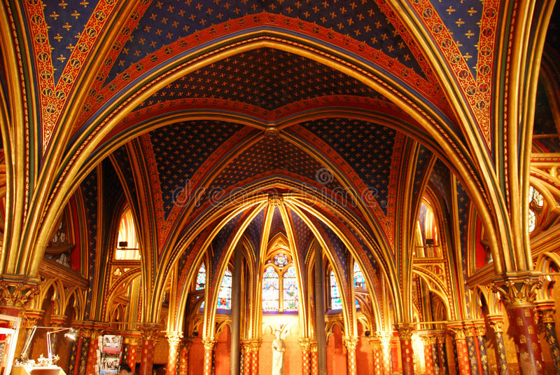 Download Sainte Chapelle Paris stock image. Image of stain, glass - 9461899