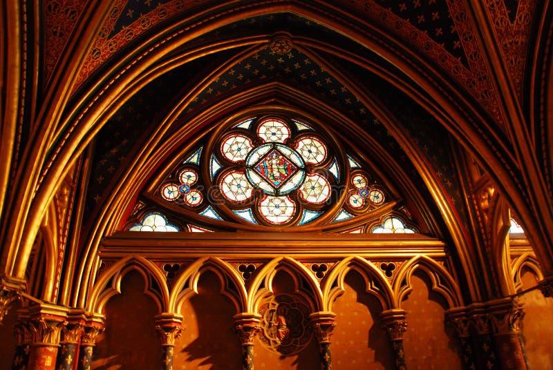 Sainte Chapelle Paris stockfotos