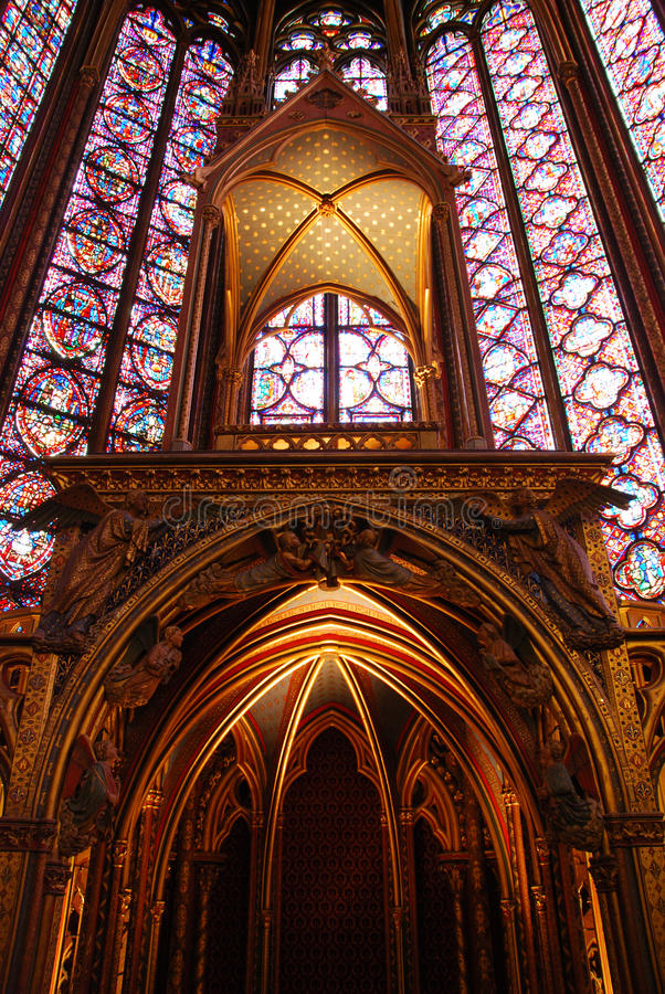 Sainte Chapelle Paris lizenzfreie stockfotos