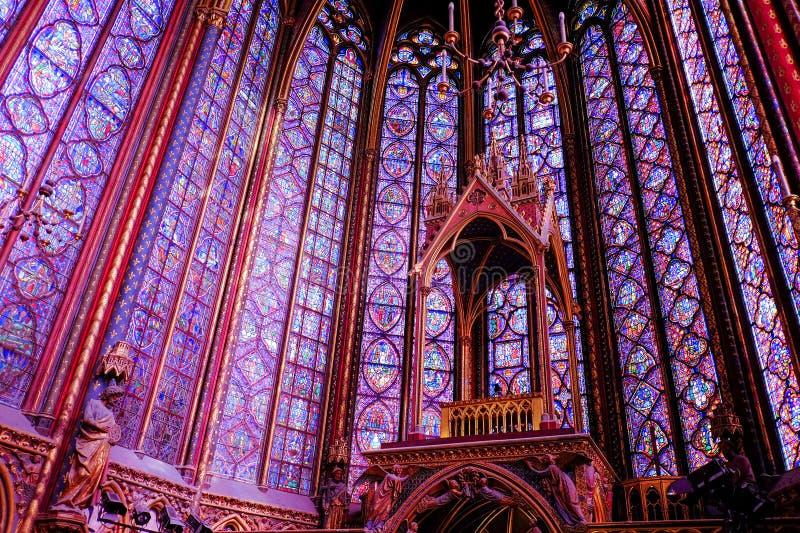 Sainte-Chapelle, Paris, France images libres de droits