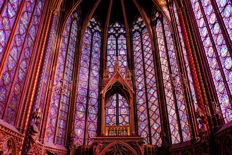 Sainte-Chapelle, Paris, France photo stock