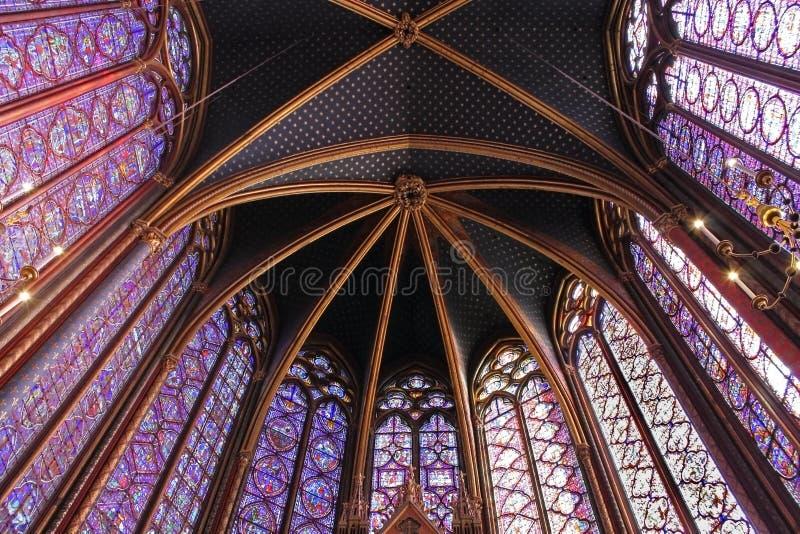 The Sainte-Chapelle, Paris stock photography