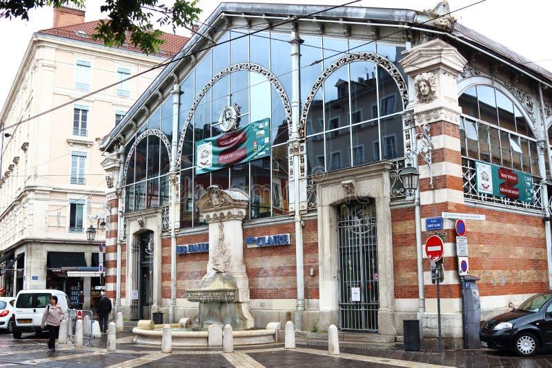 Sainte Clair Halles in Grenoble-Stadt in Frankreich stockfotos