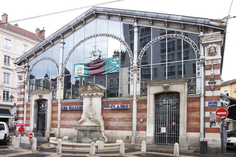 Sainte Clair Halles in Grenoble-Stadt, Frankreich lizenzfreies stockfoto