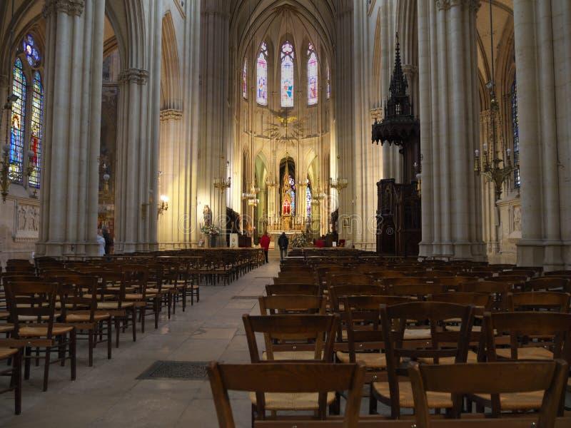 Sainte Clotilde church The Basilica of Saint Clotilde royalty free stock image