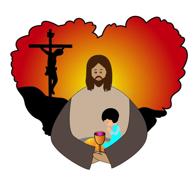 Sainte communion illustration de vecteur