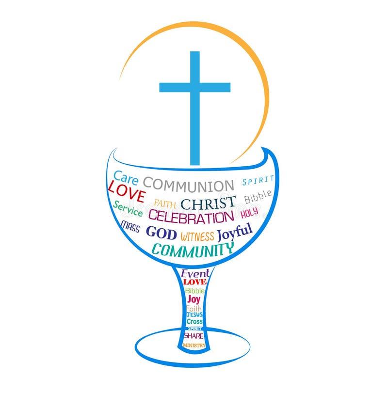 Sainte communion d'eucharistie illustration de vecteur
