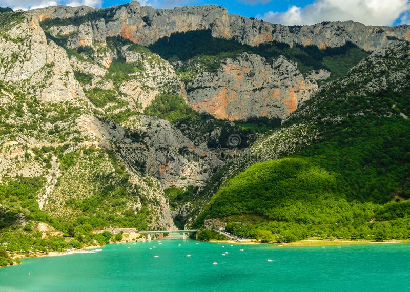 Sainte-Croix,法国湖  库存图片