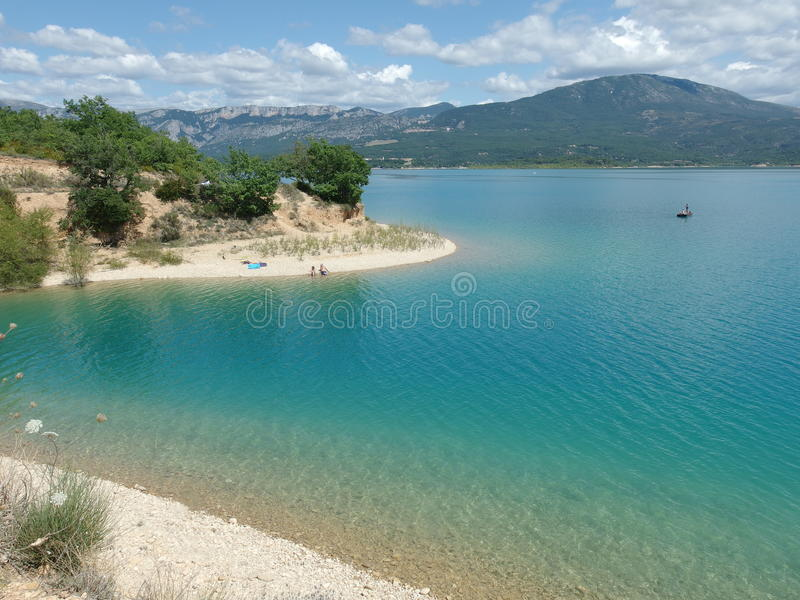 Sainte croix du verdon湖,普罗旺斯 免版税库存照片