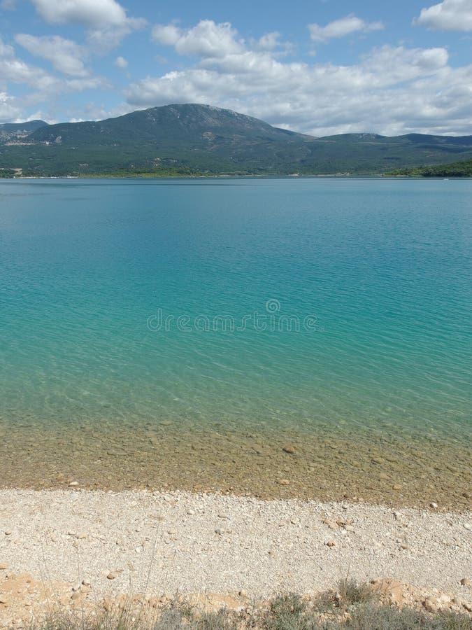 Sainte Croix Du Verdon jezioro, Provence obraz royalty free