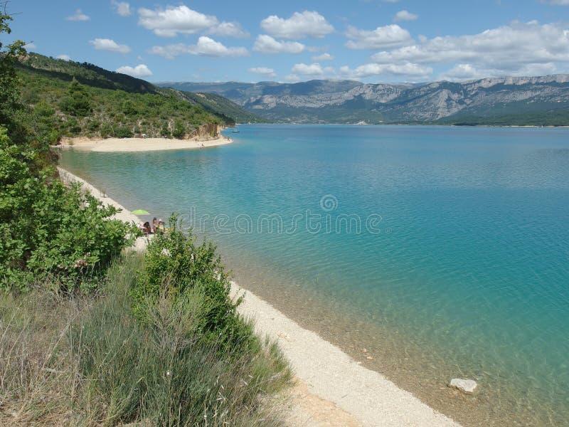 Sainte Croix Du Verdon jezioro, Provence zdjęcia royalty free