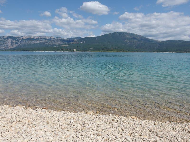 Sainte croix du verdon lake, provence royalty free stock photos