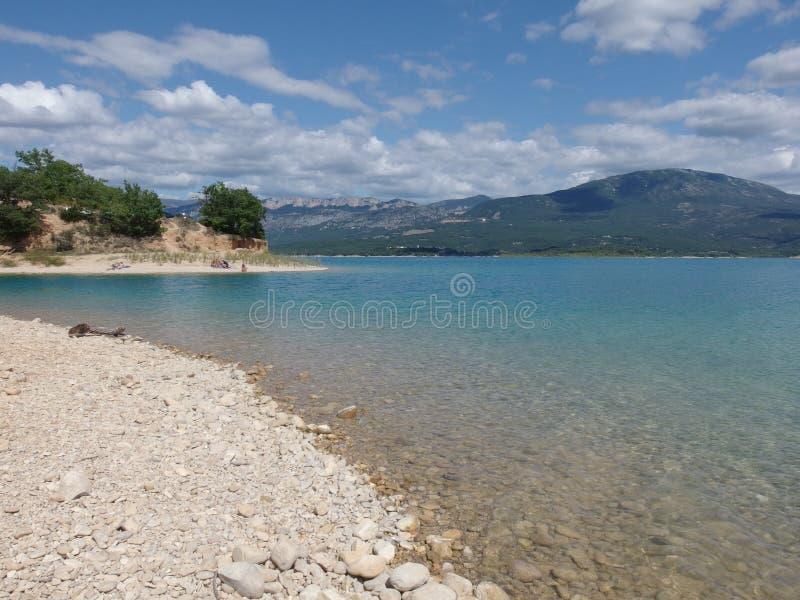 Sainte croix du verdon lake, provence royalty free stock images