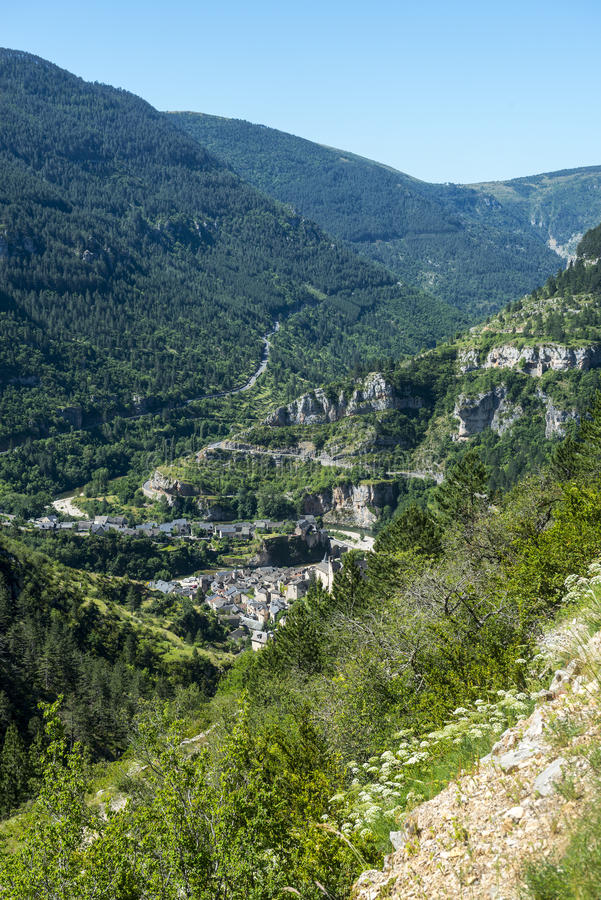 Download Sainte-Enimie, Gorges Du Tarn Stock Image - Image: 34508713