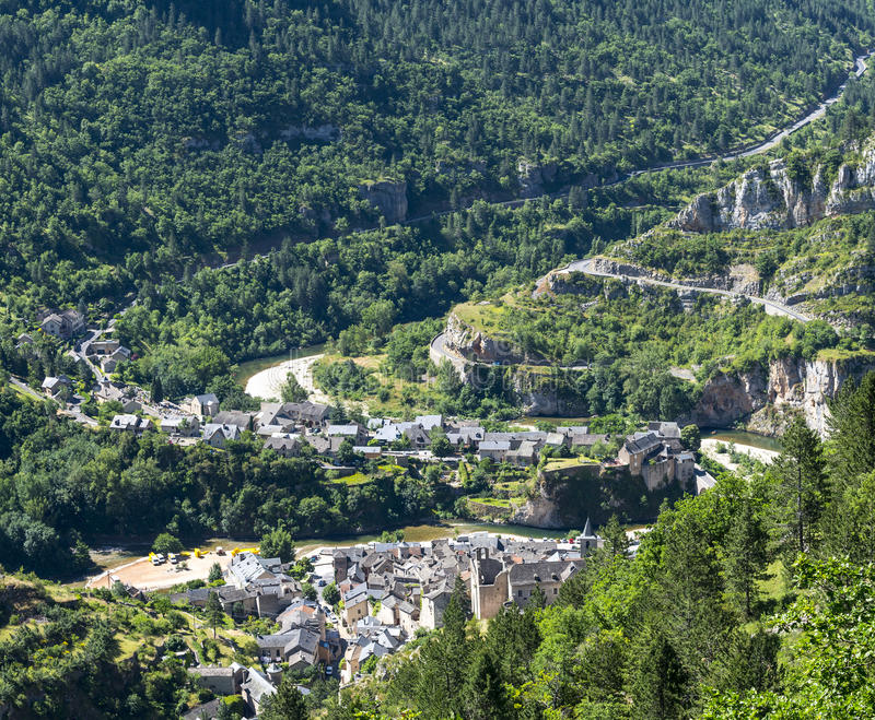 Download Sainte-Enimie, Gorges Du Tarn Stock Image - Image of gorges, europe: 34525813