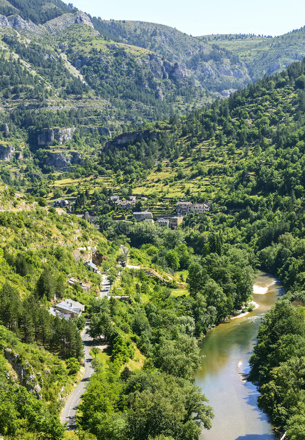 Sainte-Enimie, Gorges Du Tarn Royalty Free Stock Photography