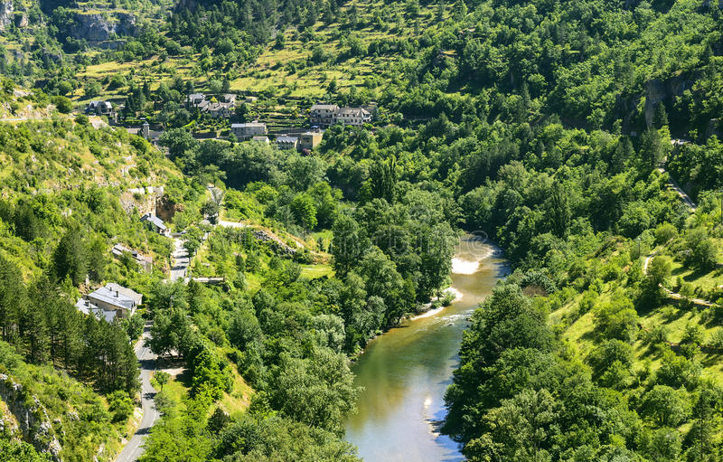 Download Sainte-Enimie, Gorges Du Tarn Stock Image - Image: 34679723