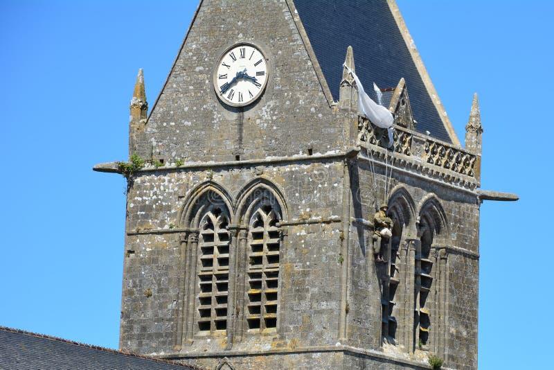 Sainte-Mère-É glise war das erste Dorf in Normandie befreite durch die Armee Vereinigter Staaten auf Invasionstag, am 6. Juni 1 stockfotografie