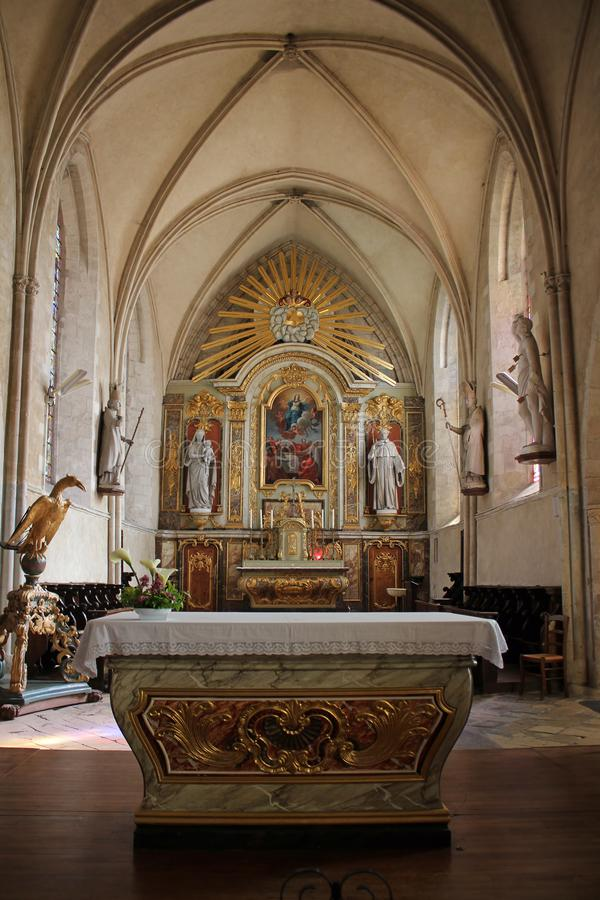 Sainte-Mère-à ‰ glise Kerk stock afbeeldingen