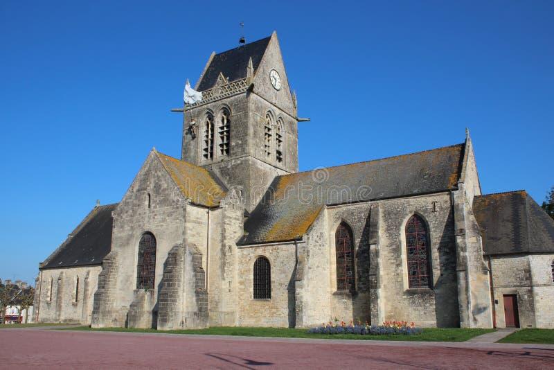 Sainte-Mère-à ‰ glise kościół zdjęcie stock