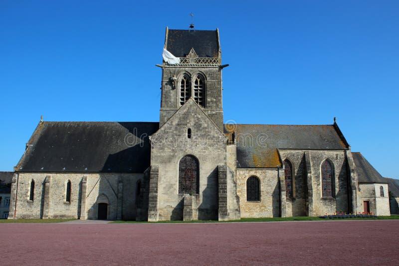 Sainte-Mère-à ‰ glise kościół zdjęcia stock