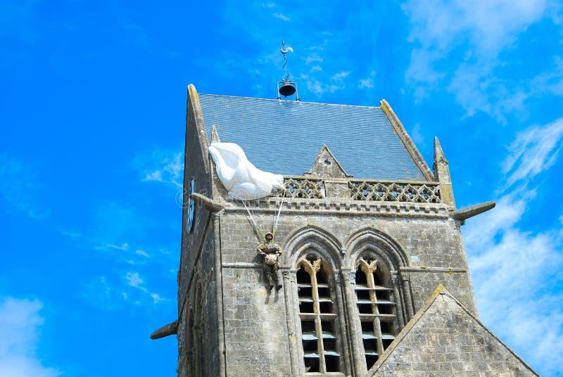 Sainte Mère à ‰ glise Normandie royaltyfri fotografi