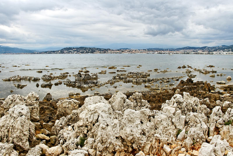 Sainte-Margurite海岸。 免版税库存图片