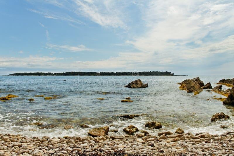 Sainte-Margurite海岸。 库存照片