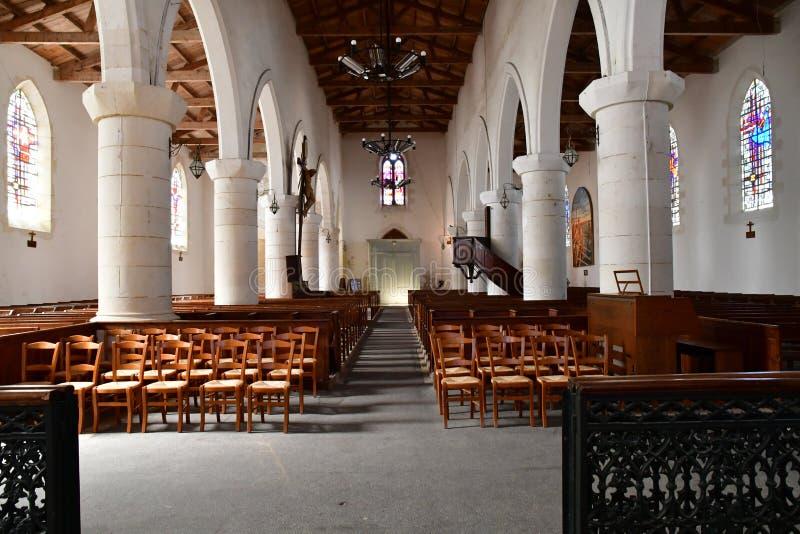 Sainte Marie de Re, France - 25 septembre 2016 : Chur de Notre Dame images libres de droits
