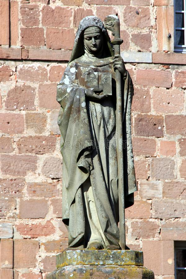 Sainte-Odile, santo patrón de Alsacia foto de archivo