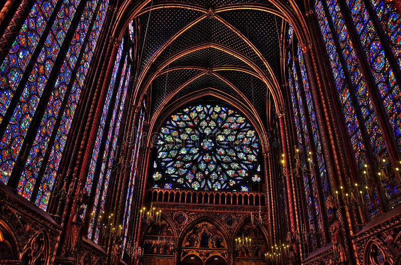 sainte paris chapelle нутряное стоковое фото rf