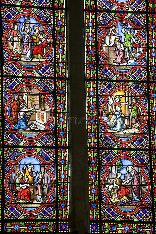 Download Sainte-Suzanne - Stained Glass Stock Photo - Image: 26809850