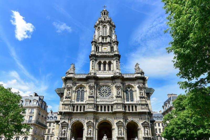 Sainte-Trinite kościół - Paryż, Francja zdjęcie stock