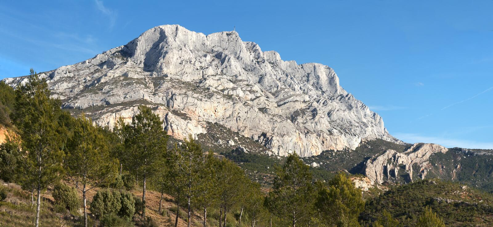 Download Sainte Victoire. France stock image. Image of mountain - 18354229