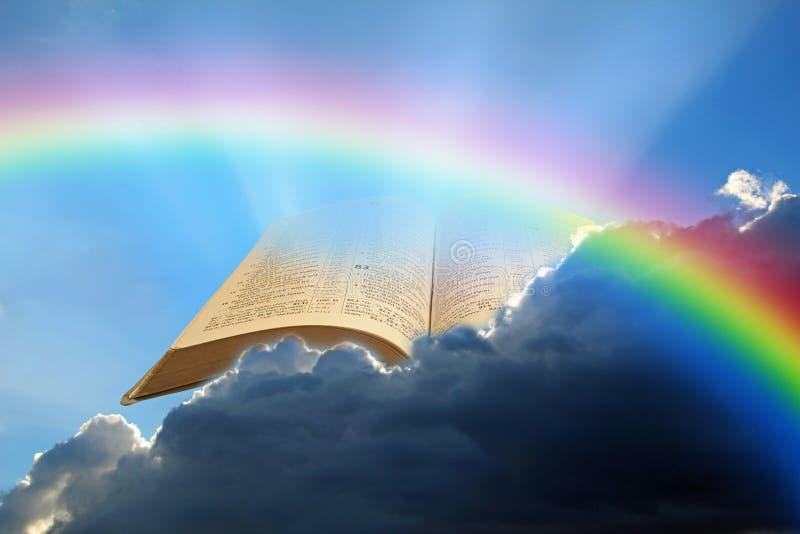 Saintes paroles de la Bible ouverne texte de dieu verset cieux Écriture jehovah jah yahweh christ jesus nuages soleil rayons espo images libres de droits