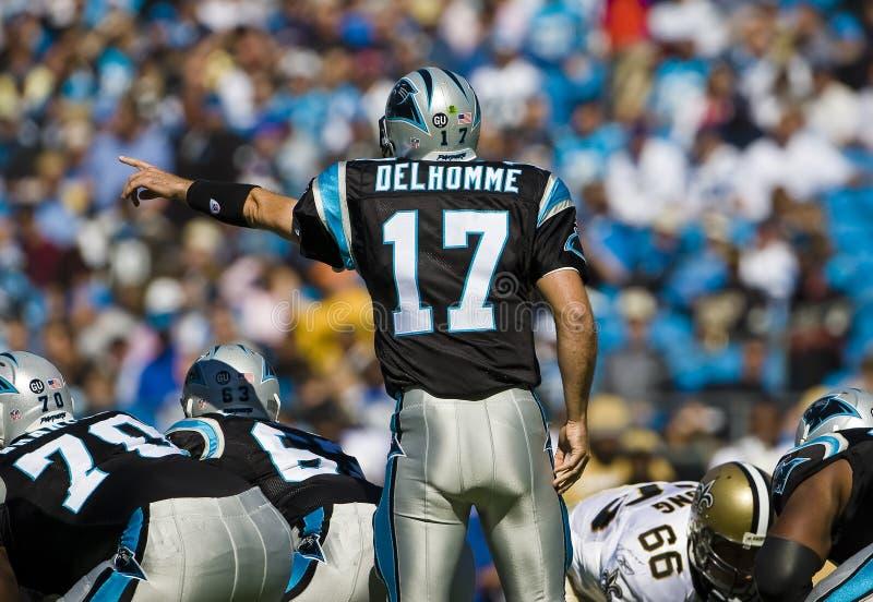 Saints de NFL la Nouvelle-Orléans contre des panthères de la Caroline photo stock
