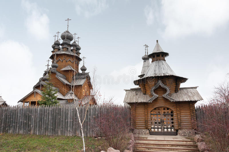 Saints Monastery Svyatogorskaya Laurels Stock Photo