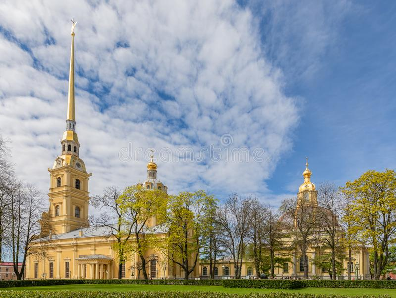 Saints Peter and Paul Cathedral in the Peter and Paul Fortress royalty free stock images