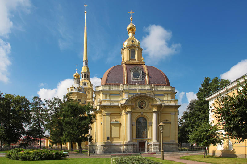 Saints Peter and Paul Cathedral, Saint Petersburg, Russia royalty free stock images