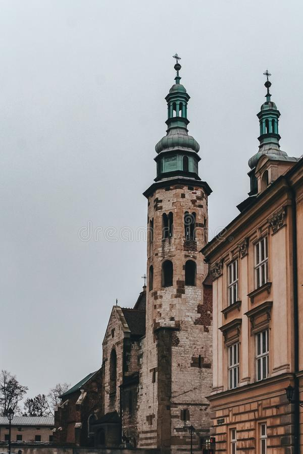 Saints Peter Paul Old Town, Cracovie, Pologne d'église photo stock