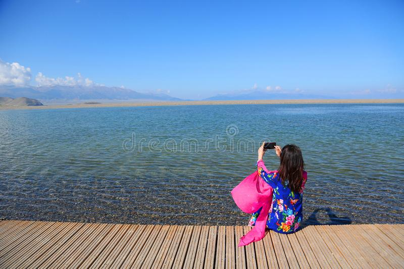 Sairam Nor Chiny Xinjiang, zdjęcia royalty free