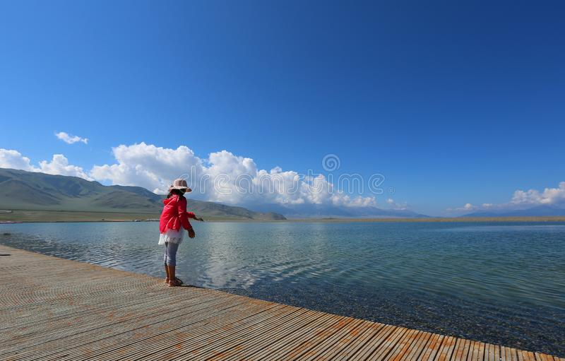 Sairam Nor Chiny Xinjiang, fotografia stock