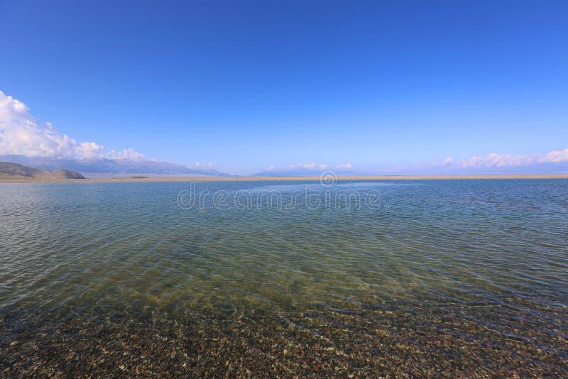 Sairam Nor Chiny Xinjiang, zdjęcia stock