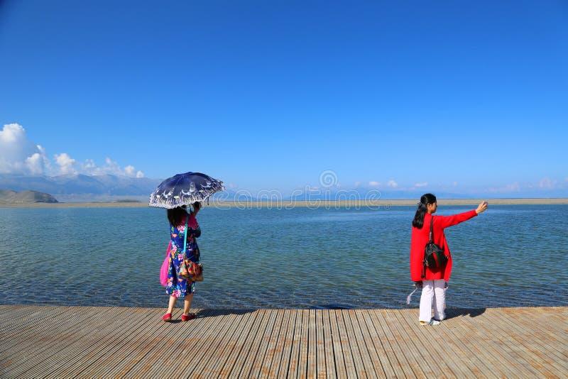 Sairam Nor Chiny Xinjiang, obrazy stock