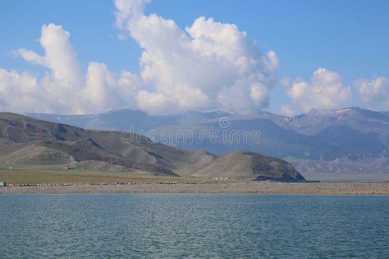 Sairam noch, Xinjiang, China stock foto's
