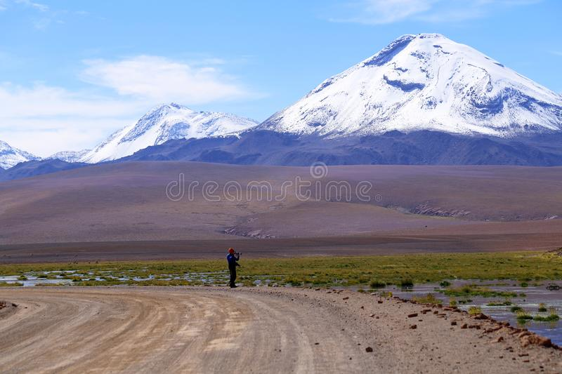 Sairecabur-Vulkan, Atacama-Wüste, Chile stockbild