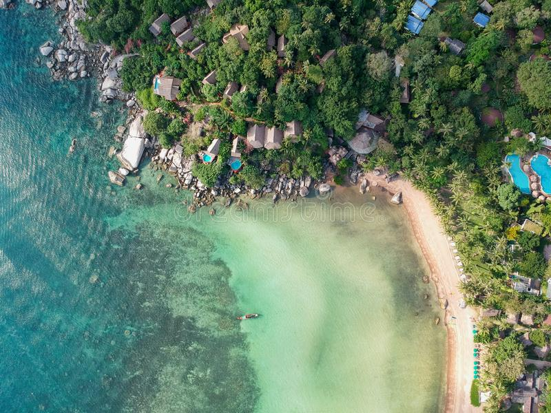 Sairee plaża, Koh Tao fotografia stock
